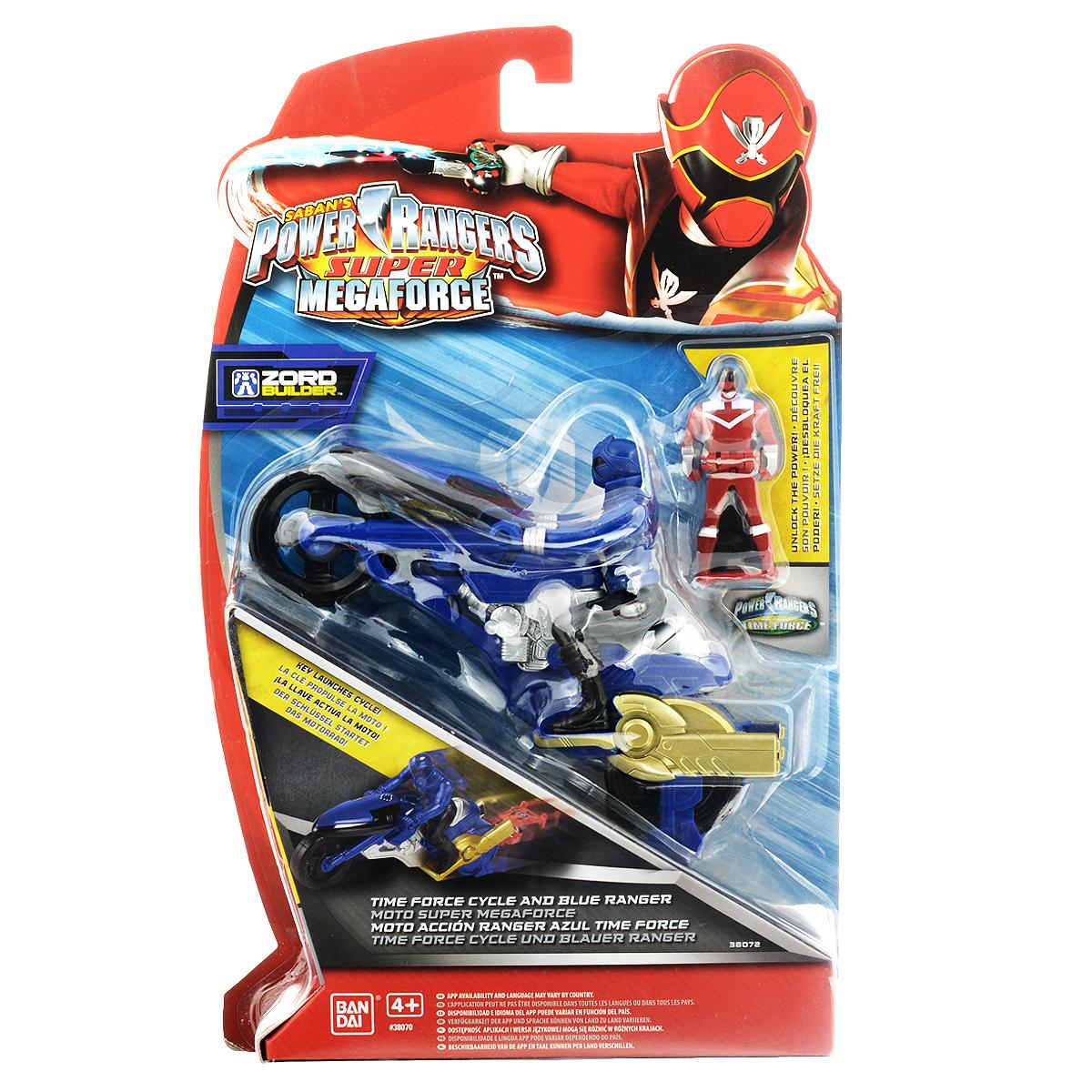 """Игрушка Power Rangers """"Мотоцикл с фигуркой"""" несомненно понравится вашему ребенку и не позволит ему скучать. В комплект входит мотоцикл с фигуркой рейнджера-мотоциклиста и ключ зажигания в виде маленькой фигурки могучего рейнджера. Мотоцикл оснащен инерционным механизмом. Для того, чтобы запустить мотоцикл, отведите его назад, вставьте ключ зажигания в специальное отверстие сзади, и отпустите его - и мотоцикл быстро поедет вперед. Соберите всех рейнджеров-мотоциклистов, и вы сможете соединить их, создав огромного боевого робота Zoid! Ваш ребенок часами будет играть с такой игрушкой, придумывая различные истории и устраивая соревнования. Порадуйте его таким замечательным подарком!"""