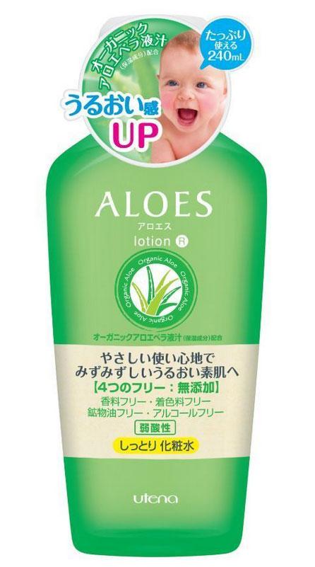 Utena Увлажняющий и освежающий лосьон Aloes для лица с экстрактом алоэ вера 240млZ3804Лосьон создан на основе натурального сока алоэ вера, без применения ароматизаторов, красителей, минерального масла, спирта. Лосьон с легкой текстурой увлажняет и освежает кожу лица, оздоравливает и улучшает ее общее состояние. Удивительное действие сока алоэ - залог нежной, увлажненной и здоровой кожи. Идеально подходит для ухода за сухой и чувствительной кожей. Нежное и легкое увлажнение кожи.