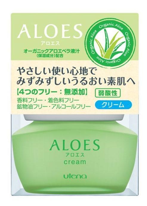 Utena Легкий увлажняющий крем Aloes для лица с экстрактом алоэ вера и скваланом, 44грZ3311Легкий увлажняющий крем с экстрактом алоэ – это великолепное средство увлажнения и оздоровления Вашей кожи. Алоэ вера славится своей способностью нежно увлажнять, восстанавливать обмен веществ и благотворным воздействием на регенерацию клеток. Сквалан образуя защитную пленку, не позволяет влаге испаряться. Легко впитываясь, крем не оставляет ощущения тяжести и липкости, а благодаря отсутствию ароматизаторов, красителей, масел и спирта, подходит для ухода за сухой и чувствительной кожей.