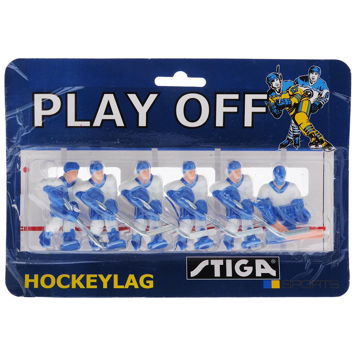 """Команда игроков Stiga """"Сборная Финляндии"""" включает 6 фигурок в виде игроков в хоккей. Фигурки предназначены для игры в настольный хоккей. Оснащены специальными отверстиями для крепления. Команда имеет раскраску формы, аналогичную настоящей команде сборной Финляндии по хоккею. Игроки имеют отличную детализацию и раскрашены вручную. В команде: вратарь и 5 хоккеистов. Теперь вы можете сыграть в настольный хоккей за команду """"Сборная Финляндии"""". Игроки предназначены для хоккея Stiga NHL Stanley Cup. Однако, несмотря на некоторые отличия, они также без проблем подойдут для Stiga Play Off и Stiga High Speed. Высота фигурки: 6 см. Количество фигурок: 6 шт."""