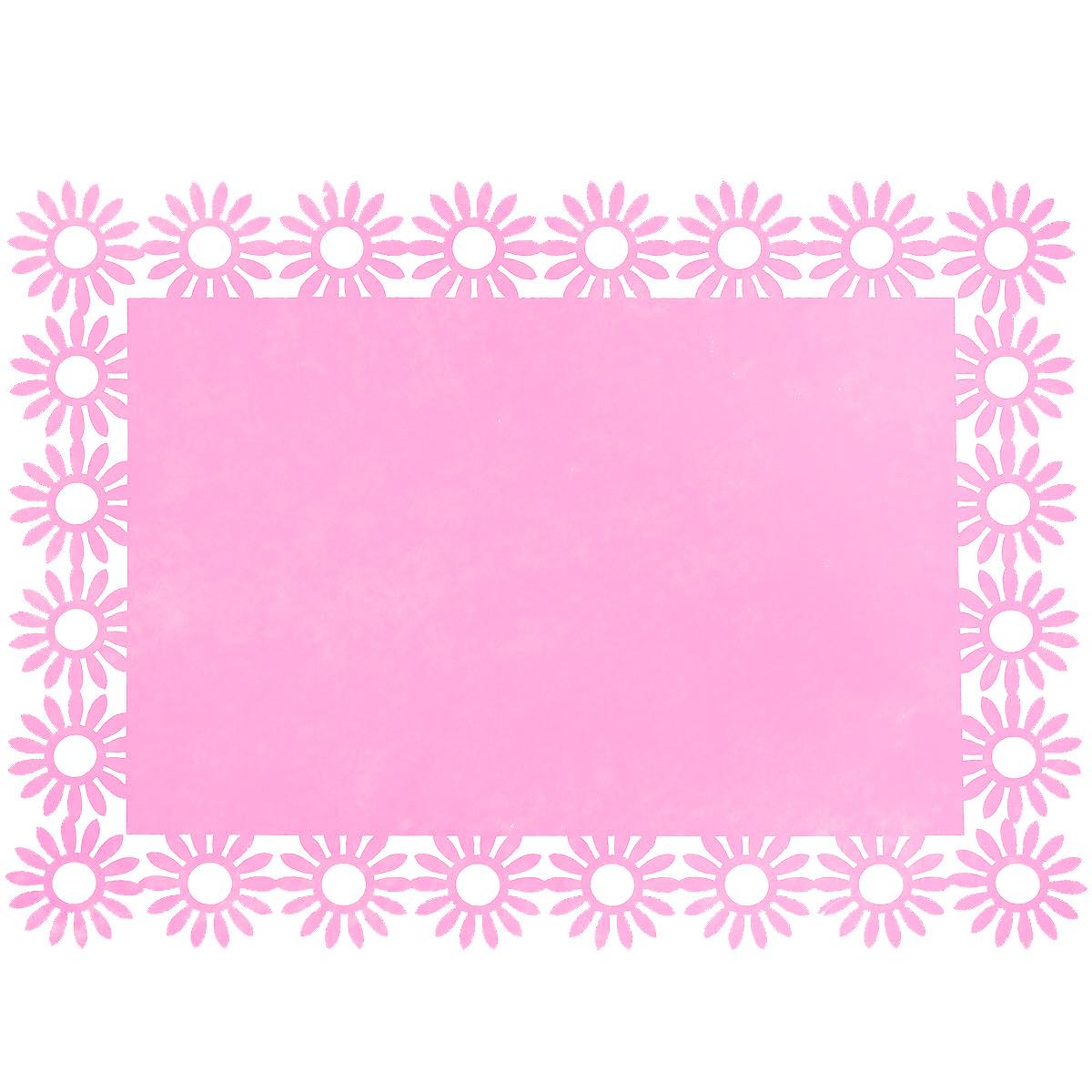 Салфетка Home Queen Веселый праздник, цвет: розовый, 30 х 40 см115610Прямоугольная салфетка Home Queen Веселый праздник выполнена из фетра и имеет красивую перфорацию по краям. Вы можете использовать салфетку для декорирования стола, комода, журнального столика. В любом случае она добавит в ваш дом стиля, изысканности и неповторимости и убережет мебель от царапин и потертостей. Размер салфетки: 30 см х 40 см х 0,2 см.