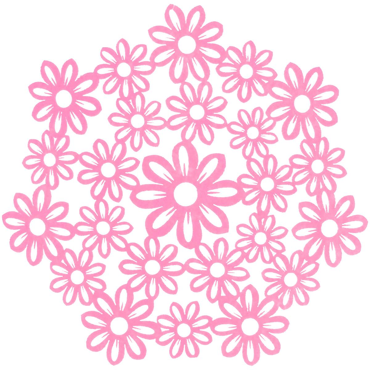 Салфетка Home Queen Незабудки, цвет: розовый, диаметр 28 см66840_6Круглая салфетка Home Queen Незабудки выполнена из фетра и оснащена красивой перфорацией в виде цветов. Вы можете использовать салфетку для декорирования стола, комода, журнального столика. В любом случае она добавит в ваш дом стиля, изысканности и неповторимости и убережет мебель от царапин и потертостей. Диаметр салфетки: 28 см.