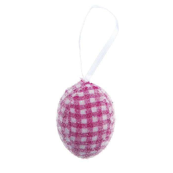 Декоративное подвесное украшение Home Queen Яйцо. Клетка, цвет: розовый. 60783_6702611Подвесное украшение Home Queen Яйцо. Клетка, выполненное в форме яйца, изготовлено из пластика и декорировано блестками. Изделие оснащено текстильной петелькой для подвешивания.Такое украшение прекрасно оформит интерьер дома или станет замечательным подарком для друзей и близких на Пасху. Размер яйца: 4 см х 4 см х 6 см.