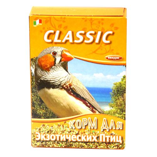Корм Fiory Classic для экзотических птиц, 400 г70005104Корм Fiory Classic - классическая смесь для экзотических птиц. Корм упакован в вакуум. Готов к употреблению. Состав: просо, красное просо, желтое просо, белое просо, двукисточник тростниковый, лен, пекарные продукты. Товар сертифицирован.
