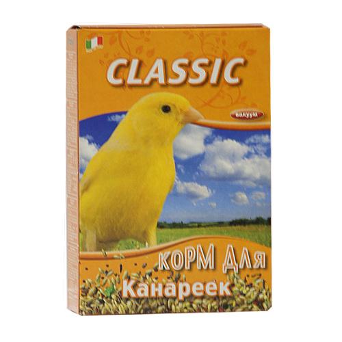Корм для канареек Fiory Classic, 400 г20048Корм Fiory Classic - классическая смесь для канареек. Корм упакован в вакуум. Готов к употреблению. Состав: семена канареечника, рапс, овес лущеный, лен, просо, семена конопли, нут абиссинский, пекарные продукты. Товар сертифицирован.