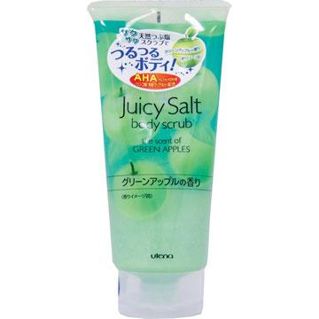 Utena Скраб Juicy Salt для тела на основе соли с ароматом зеленых яблок 300гр450500055Скраб для тела с ароматом зелёных яблок делает кожу светлой, гладкой и идеально чистой. Натуральные гранулы соли и специальный компонент (альфагидроксикислота), содержащиеся в данном скрабе, устраняют старые ороговевшие клетки кожи, очищают поры и убирают излишний кожный жир. Особые вещества скраба поддерживают кожу в увлажненном состоянии даже после приема ванны.