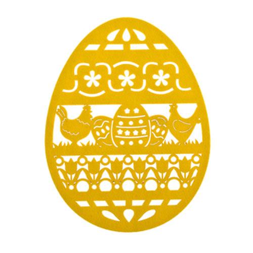 Салфетка Home Queen Веселый праздник, цвет: желтый, 25 х 33 х 0,2 см54 009312Салфетка Home Queen Веселый праздник изготовлена из фетра, выполнена в форме яйца и имеет красивую перфорацию. Вы можете использовать салфетку для декорирования стола, комода, журнального столика. В любом случае она добавит в ваш дом стиля, изысканности и неповторимости и убережет мебель от царапин и потертостей. Размер салфетки: 25 см х 33 см х 0,2 см.
