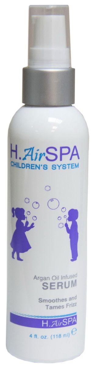 H.AirSpa Сыворотка детская разглаживающая, на масле арганы, 118 млZ0408Всего капля разглаживающей сыворотки добавит блеск волосам и уберет лишнюю пушистость детских волос, защитит от повреждений. Входящие в состав масла ши, арганы и алоэ питают волосы, делают их мягкими, хорошо поддающимися любым укладкам и прическам. Сыворотка придает волосам блеск и здоровый внешний вид. Можно применять на влажные или сухие волосы.Проверено дерматологами.