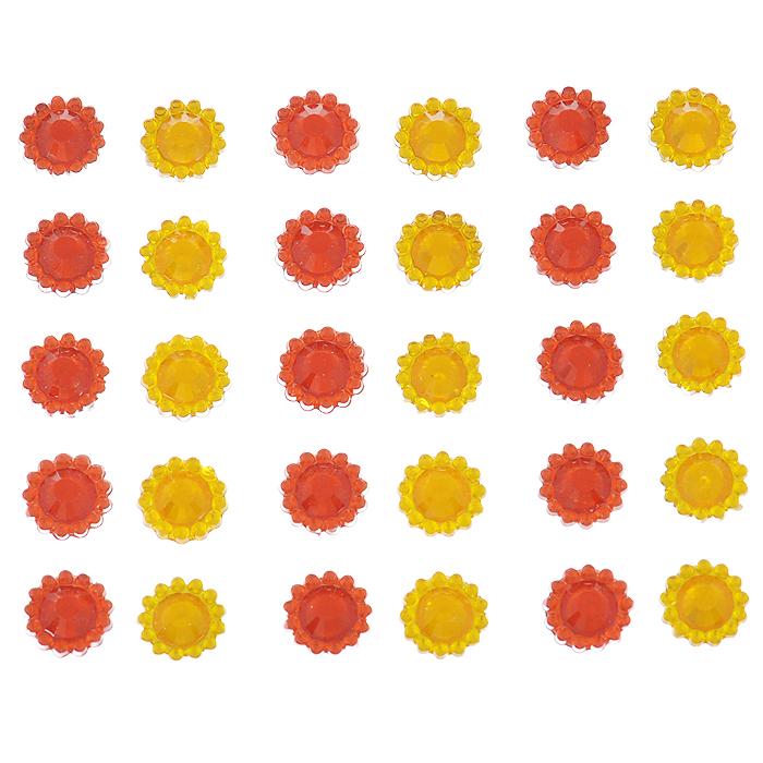 Стразы самоклеящиеся Home Queen Каменный цветок, цвет: красный, желтый, 1 см, 30 шт300194_желтые тюльпаныНабор страз Home Queen Каменный цветок, изготовленный из акрила, позволит вам украситьоткрытку, бижутерию, подарочную коробку, фотоальбом, а также элементы одежды. Стразы оригинального и яркого дизайна круглой формы фиксируются при помощи специальной клейкой основы.Украшение стразами поможет сделать любую вещь оригинальной и неповторимой.Диаметр: 1 см. Комплектация: 30 шт