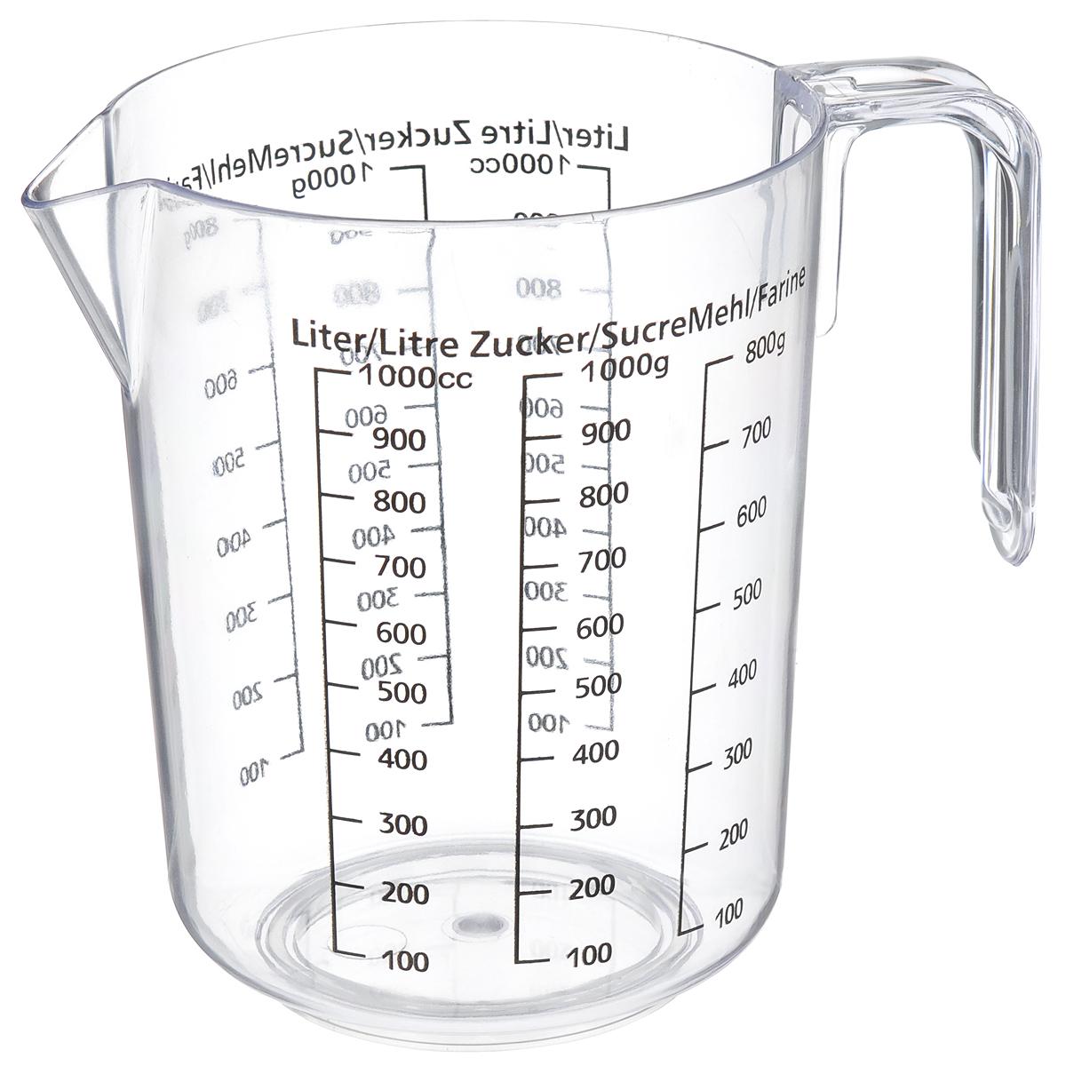 Кувшин мерный Fackelmann, 1 л391602Мерный прозрачный кувшин пригодится на каждой кухне, ведь зачастую приготовление некоторых блюд требует известной точности. Данный кувшин позволяет мерить жидкости до 1 литра, сахар и разные сыпучие продукты. Кувшин можно использовать как чашу для взбивания продуктов.Можно использовать в посудомоечной машине. Объем кувшина: 1 л.Высота кувшина: 15 см.Диаметр кувшина (по верхнему краю): 12 см.