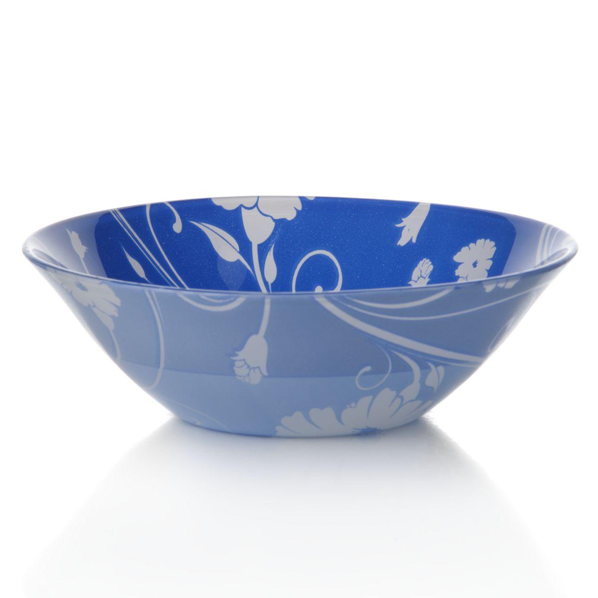 Набор салатников Pasabahce Blue Serenade, цвет: синий, диаметр 14 см, 6 шт54 009312Набор Pasabahce Blue Serenade состоит из шести круглых салатников, выполненных из закаленного стекла. Изделия украшены изысканным цветочным узором.Набор прекрасно подойдет для сервировки различных блюд. Яркий дизайн украсит стол и порадует вас и ваших гостей. Нельзя использовать в микроволновой печи. Можно использовать в морозильной камере.Диаметр салатника: 14 см. Высота салатника: 5 см.