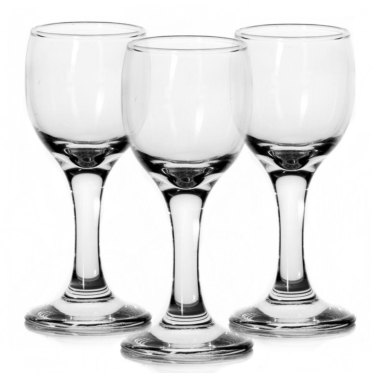 Набор рюмок Pasabahce Bistro, 60 мл, 3 штFA-5125-1 BlueНабор Pasabahce Bistro состоит из трех рюмок, выполненных из прочного натрий-кальций-силикатного стекла. Изделия оснащены изящными ножками. Рюмки сочетают в себе элегантный дизайн и функциональность. Благодаря такому набору пить напитки будет еще вкуснее.Набор рюмок Pasabahce Bistro прекрасно оформит праздничный стол и создаст приятную атмосферу за ужином. Такой набор также станет хорошим подарком к любому случаю. Можно мыть в посудомоечной машине и использовать в микроволновой печи.Диаметр рюмки (по верхнему краю): 4,5 см. Высота рюмки: 11 см.