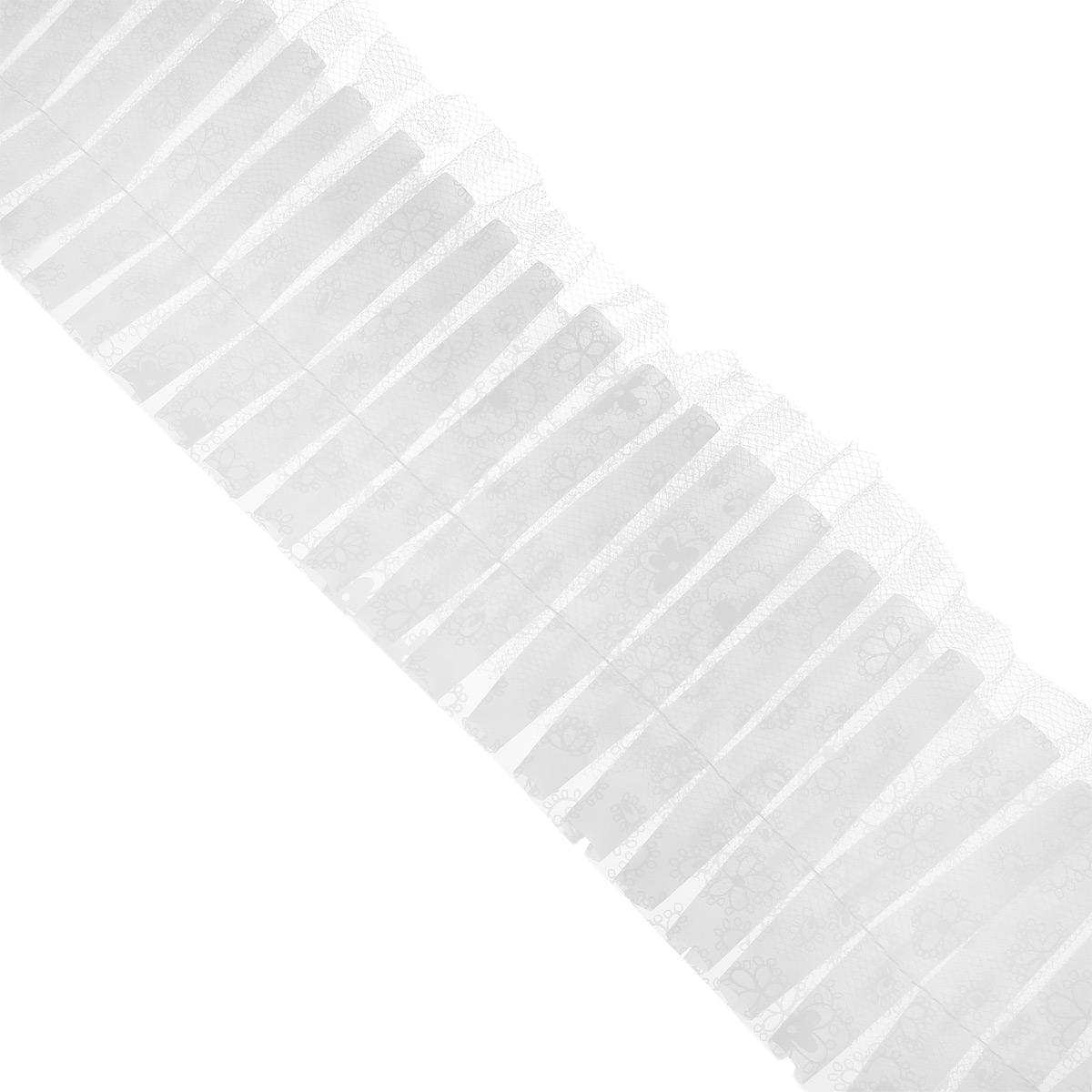 Кружево для украшения тортов Wilton, цвет: белый, ширина 7,6 см, длина 183 см54 009305Кружево Wilton предназначено для украшения кондитерских изделий. Изделие крепится на край подноса или подставки под торт. Кружевная лента на клеенчатой основе, ее можно мыть.Ширина: 7,6 см. Длина: 183 см.
