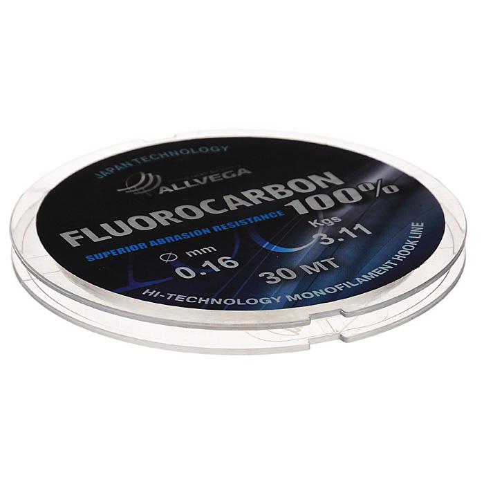 Леска Allvega FX Fluorocarbon 100%, цвет: прозрачный, 30 м, 0,16 мм, 3,11 кг010-01199-23Allvega FX Fluorocarbon 100% имеет коэффициент преломления света, близкий к коэффициенту преломления света воды, поэтому эта леска незаметна в воде и незаменима во многих случаях. Широко используется в качестве поводковой лески, как для мирных рыб, так и для хищников. Кроме прозрачности, так же обладает высокой устойчивостью к внешним механическим воздействиям, таким как камни, песок, ракушечник, зубы хищников. Обладает малой растяжимостью, что позволяет более четко определять поклевку и просекать рыбу.