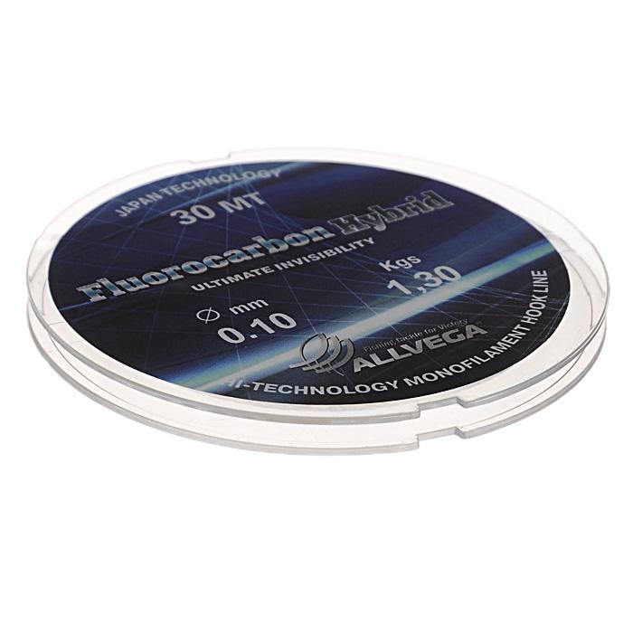 Леска Allvega Fluorocarbon Hybrid, цвет: прозрачный, 30 м, 0,1 мм, 1,3 кг59248Прозрачная леска Allvega Fluorocarbon Hybrid, состоящая из 65 % флюрокарбона. Флюрокарбоновое покрытие позволяет максимально повысить характеристики, при этом цена лески остается относительно низкой.