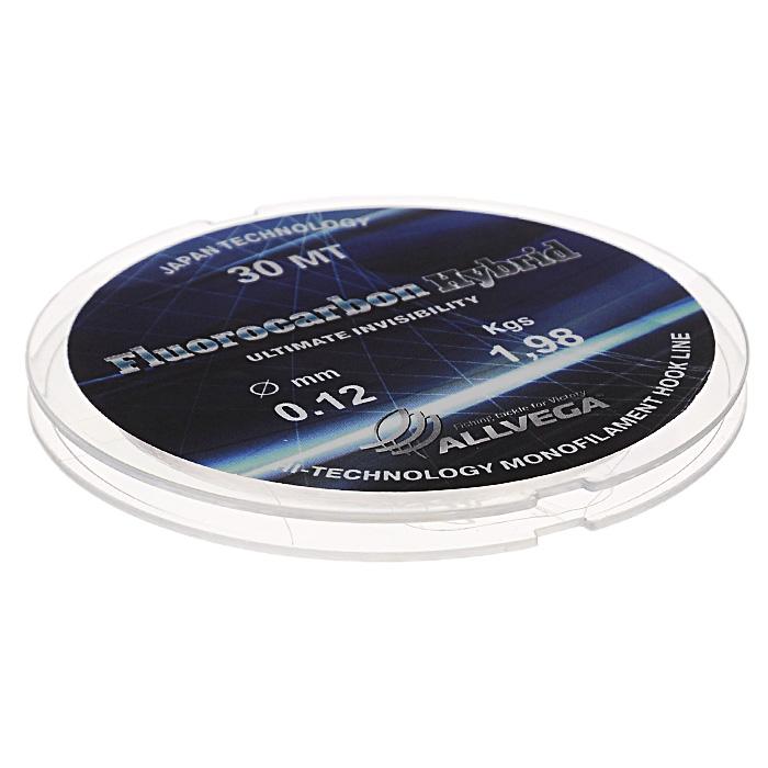 Леска Allvega Fluorocarbon Hybrid, цвет: прозрачный, 30 м, 0,12 мм, 1,98 кг39961Прозрачная леска Allvega Fluorocarbon Hybrid, состоящая из 65 % флюрокарбона. Флюрокарбоновое покрытие позволяет максимально повысить характеристики, при этом цена лески остается относительно низкой.