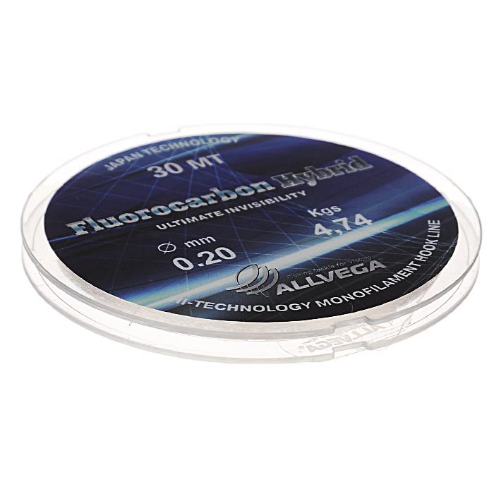Леска Allvega Fluorocarbon Hybrid, цвет: прозрачный, 30 м, 0,2 мм, 4,74 кг4271825Прозрачная леска Allvega Fluorocarbon Hybrid, состоящая из 65 % флюрокарбона. Флюрокарбоновое покрытие позволяет максимально повысить характеристики, при этом цена лески остается относительно низкой.