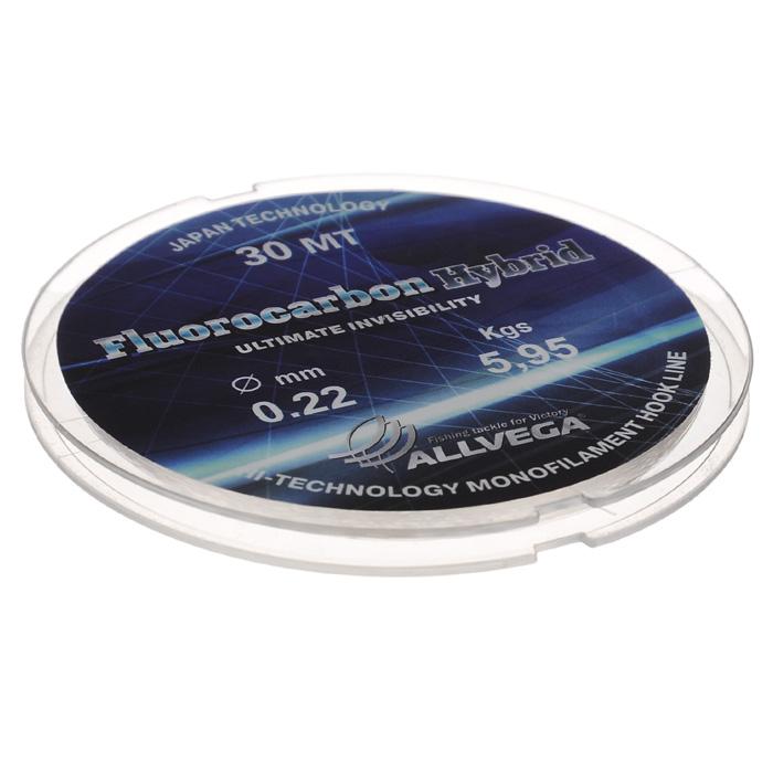 Леска Allvega Fluorocarbon Hybrid, цвет: прозрачный, 30 м, 0,22 мм, 5,95 кг36178Прозрачная леска Allvega Fluorocarbon Hybrid, состоящая из 65 % флюрокарбона. Флюрокарбоновое покрытие позволяет максимально повысить характеристики, при этом цена лески остается относительно низкой.
