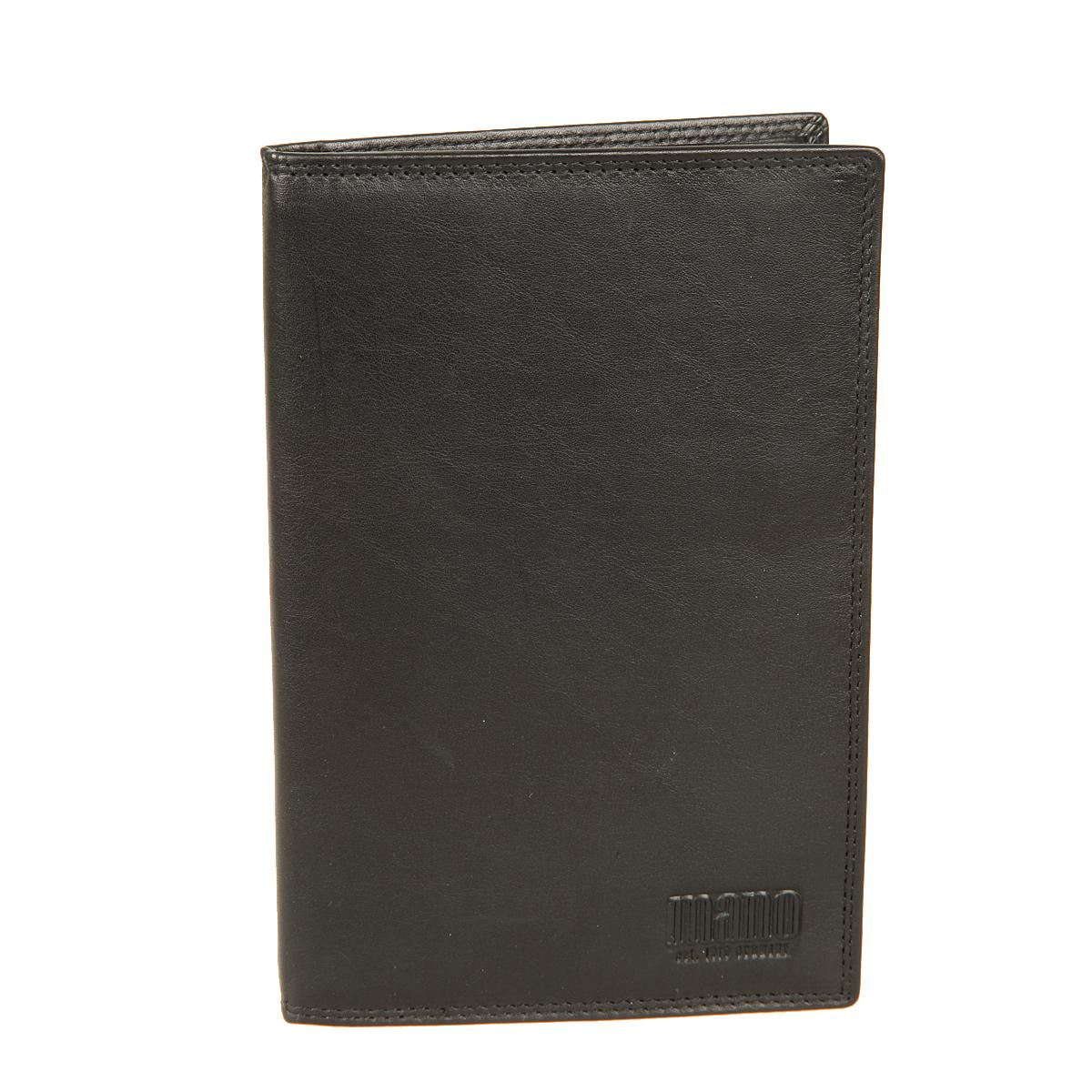 Портмоне Mano, цвет: черный. 19011BM8434-58AEПортмоне Mano выполнено из высококачественной натуральной кожи. Модель раскладывается пополам. Внутри три больших потайных кармана, один из них на молнии, шестнадцать карманов для пластиковых карт. Отделение для монет находится внутри, в нем есть кармашек для sim-карты - закрывается на клапан с кнопкой. Это элегантное портмоне непременно дополнит ваш образ и порадует простотой, стилем и функциональностью.