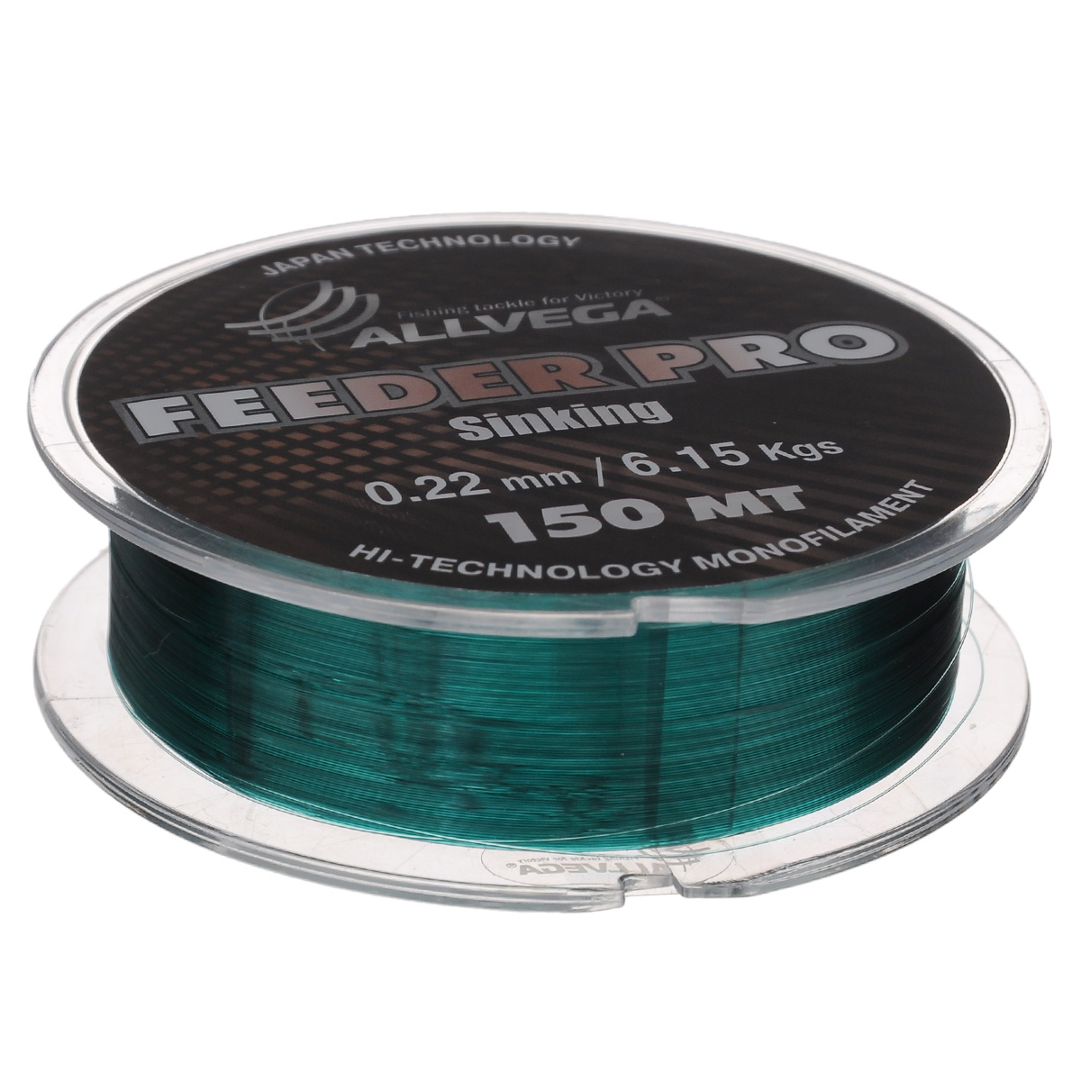 Леска Allvega Feeder Pro Sinking, цвет: темно-зеленый, 150 м, 0,22 мм, 6,15 кгPGPS7797CIS08GBNVЛеска Allvega Feeder Pro Sinking предназначена для фидерной ловли. Обладает всеми необходимыми характеристиками для фидерной ловли. Это - повышенная стойкость к перетиранию о бровки, камни и ракушечник, отлично тонет, имеет малую растяжимость, окрашена в темно-зеленый цвет. Может с успехом использоваться в матчевой ловле и при ловле на зимнюю поплавочную удочку.