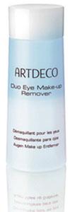 ARTDECO Двухфазная жидкость для снятия водостойкого макияжа с глаз Pure Minerals Duo Eye Make Up Remover, 125 млFS-00897Средство для снятия макияжа с глаз Duo Eye-Make-up-Remover мягко снимает даже водостойкий макияж с глаз и оказывает бережное воздействие на чувствительную кожу вокруг глаз. Специальная текстура средства состоит из маслосодержащей липо-фазы и прозрачной гидро-фазы, которые смешиваются перед использованием и обеспечивают наилучший баланс текстур для полного удаления макияжа с глаз. Средство для снятия макияжа оставляет на коже приятное чувство ухоженности и свежести благодаря розовой и гамамелисовой воде. Благодаря своей особой текстуре средство подходит также для людей, которые носят контактные линзы. Подходит для чувствительных глаз. Не содержат парфюмированных отдушек.