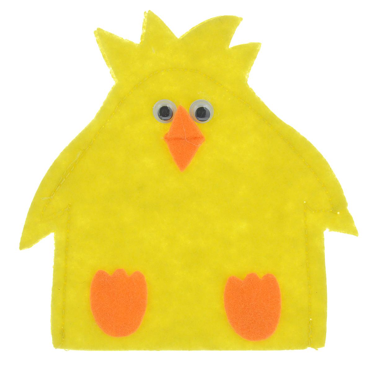 Грелка для яйца Home Queen Цыпленок, цвет: желтый, 11,5 х 11,5 см декоративное украшение home queen приветливый цыпленок цвет желтый 8 х 11 см