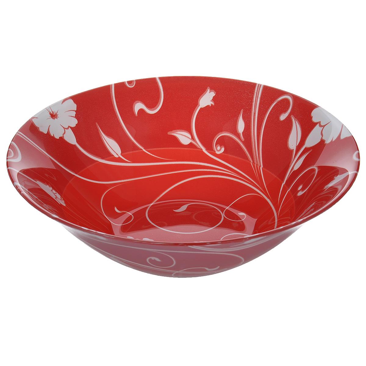 Салатник Pasabahce Red Serenade, цвет: красный, диаметр 23 см54 009312Салатник Pasabahce Red Serenade выполнен из закаленного стекла. Изделие украшено изысканным цветочным орнаментом. Внешняя сторона - матовая.Набор прекрасно подойдет для сервировки различных блюд. Яркий дизайн украсит стол и порадует вас и ваших гостей. Нельзя использовать в микроволновой печи. Можно использовать в морозильной камере.Диаметр салатника: 23 см. Высота салатника: 7 см.