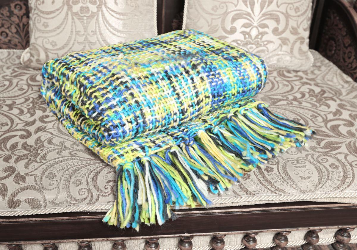Плед Mona Liza Premium Picasso, цвет: зеленый, синий, белый, 140 х 180 см251805022-06fВязаный плед Mona Liza Premium Picasso с кисточками по краям послужит теплым, мягким и практичным подарком близким людям. Плед изготовлен из высококачественного 100% акрила.Яркий и приятный на ощупь плед Mona Liza Premium Picasso непременно займет достойное место в вашем доме.