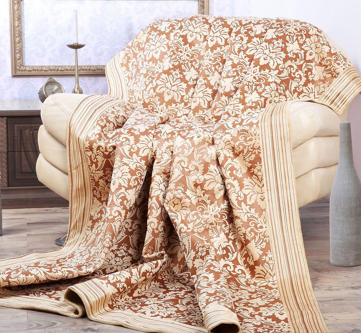 Покрывало Mona Liza Elite Vintage, цвет: бежевый, коричневый, 180 см х 220 смES-412Роскошное покрывало Mona Liza Elite Vintage из высококачественного полиэстера гармонично впишется в интерьер вашего дома и создаст атмосферу уюта и комфорта. Такое покрывало согреет в прохладную погоду и будет превосходно дополнять интерьер вашей спальни. Высочайшее качество материала гарантирует безопасность не только взрослых, но и самых маленьких членов семьи. Небольшой ворс придает покрывалу мягкость и оригинальность. Покрывало может подчеркнуть любой стиль интерьера, задать ему нужный тон - от игривого до ностальгического. Покрывало - это такой подарок, который будет всегда актуален, особенно для ваших родных и близких, ведь вы дарите им частичку своего тепла! Покрывала серии Mona Liza Elite выполнены из шенилловой ткани деворе - при выжигании части волокон образуется характерный рельефный рисунок.