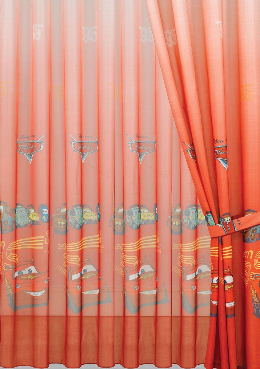 Комплект штор Mona Liza Тачки 2, цвет: красный, высота 265 см60538Полотно на люверсах Mona Liza Тачки 2 станет достойным украшением комнаты маленького героя. Яркое изображение любимых машин из мультфильма не оставит равнодушным вашего ребенка и будет идеальным дополнением интерьера детской комнаты.В комплект входит: Штора - 2 шт. Размер (Ш х В): 150 см х 265 см. Тюль - 1 шт. Размер (Ш х В): 300 см х 265 см.Внутренний диаметр люверс 4 см.Комплект штор выполнен из полиэстера.