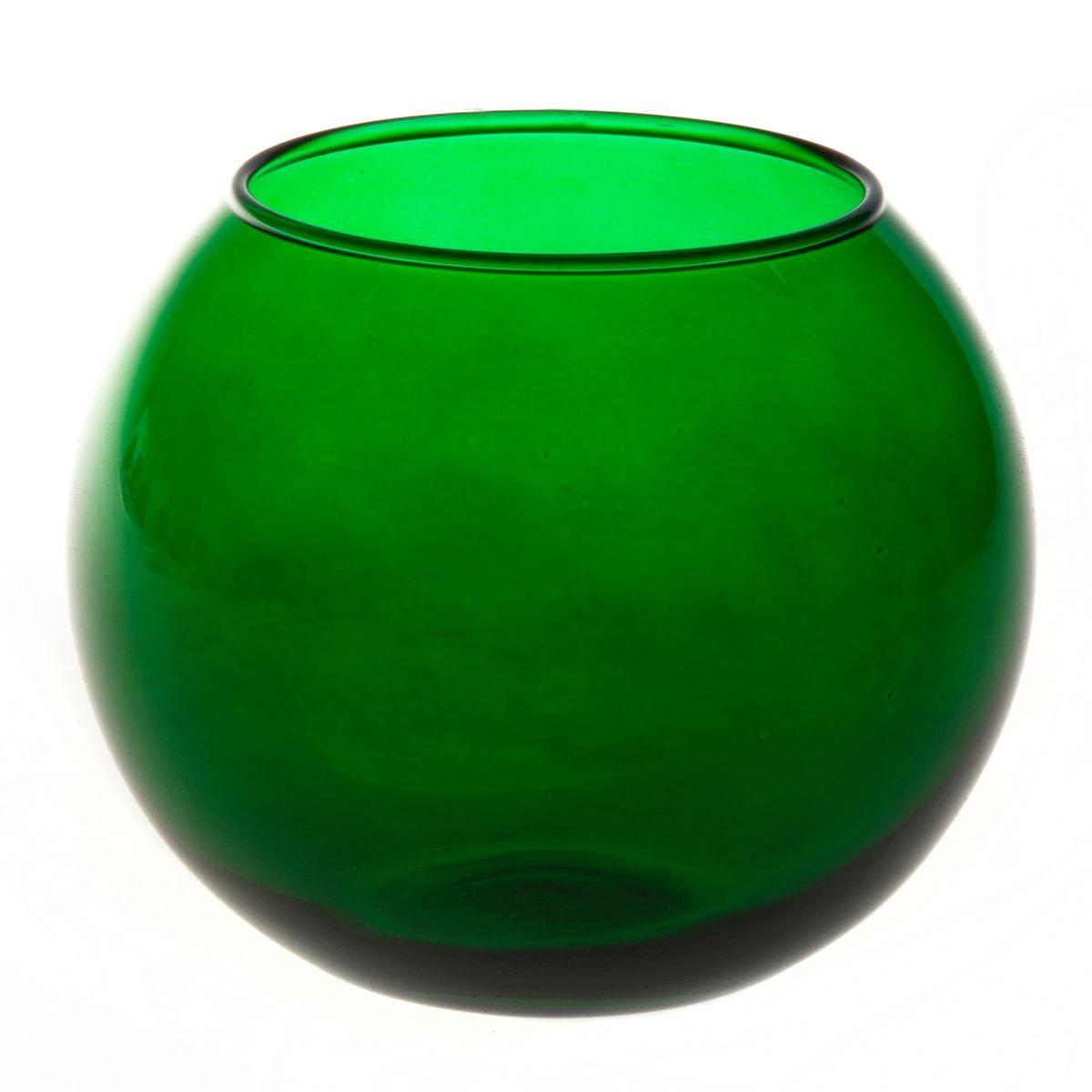 Ваза Workshop Flora, цвет: зеленый, высота 11 смFS-91909Ваза Workshop Flora, выполненная из натрий-кальций-силикатного стекла, сочетает в себе изысканный дизайн с максимальной функциональностью. Круглая ваза имеет гладкие одноцветные стенки. Она идеально подойдет для мелких цветов. Такая ваза придется по вкусу и ценителям классики, и тем, кто предпочитает утонченность и изысканность. Высота вазы: 11 см.Диаметр вазы (по верхнему краю): 7,9 см.