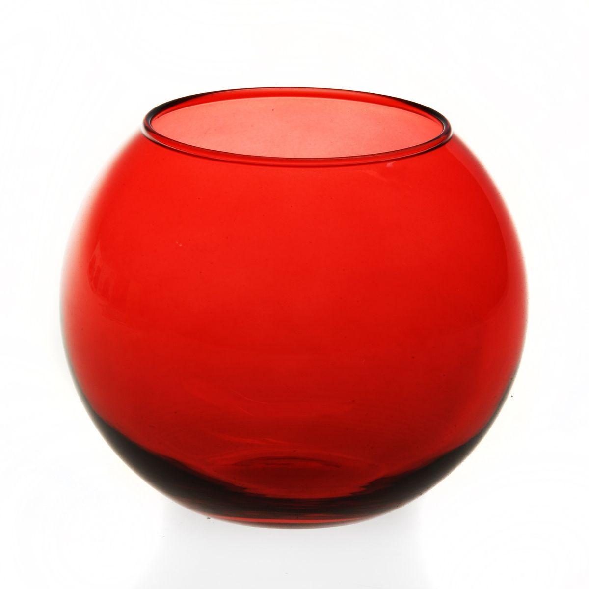 Ваза Workshop Flora, цвет: красный, высота 11 смFS-91909Ваза Workshop Flora, выполненная из натрий-кальций-силикатного стекла, сочетает в себе изысканный дизайн с максимальной функциональностью. Круглая ваза имеет гладкие одноцветные стенки. Она идеально подойдет для мелких цветов. Такая ваза придется по вкусу и ценителям классики, и тем, кто предпочитает утонченность и изысканность. Высота вазы: 11 см.Диаметр вазы (по верхнему краю): 7,9 см.