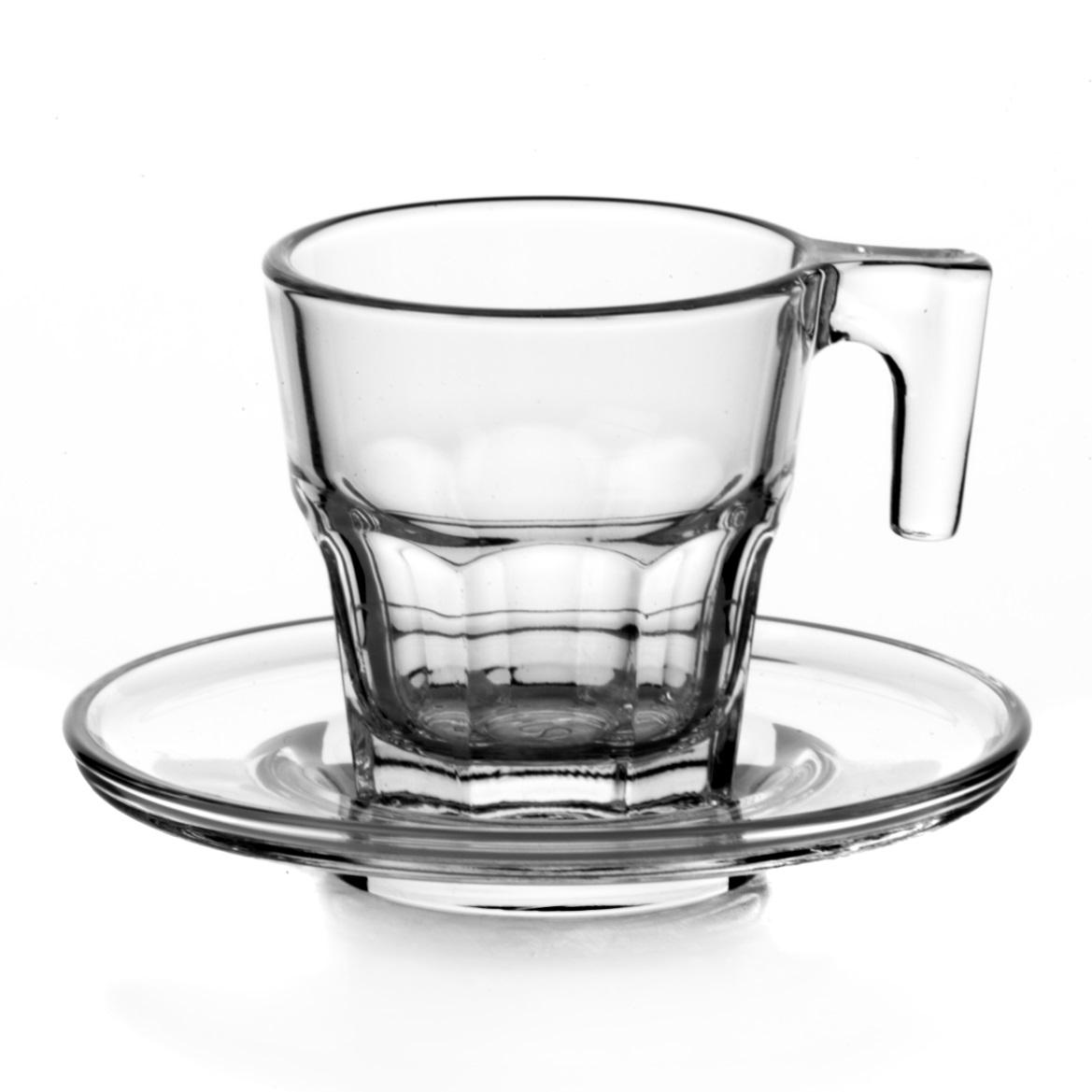 Набор кофейный Pasabahce Casablanka, цвет: прозрачный, 12 предметовVT-1520(SR)Кофейный набор Pasabahce Casablanka состоит из 6 кружек и 6 блюдец, выполненных из натрий-кальций-силикатного стекла. Изделия сочетают в себе изысканный дизайн и функциональность. Благодаря такому набору пить кофе будет еще вкуснее.Кофейный набор Pasabahce Casablanka прекрасно оформит праздничный стол и создаст приятную атмосферу за ужином. Такой набор также станет хорошим подарком к любому случаю. Можно мыть в посудомоечной машине.Количество кружек: 6 шт.Диаметр кружки (по верхнему краю): 5,5 см.Высота кружки: 6 см.Объем кружки: 70 мл.Количество блюдец: 6 шт.Диаметр блюдца: 8 см.