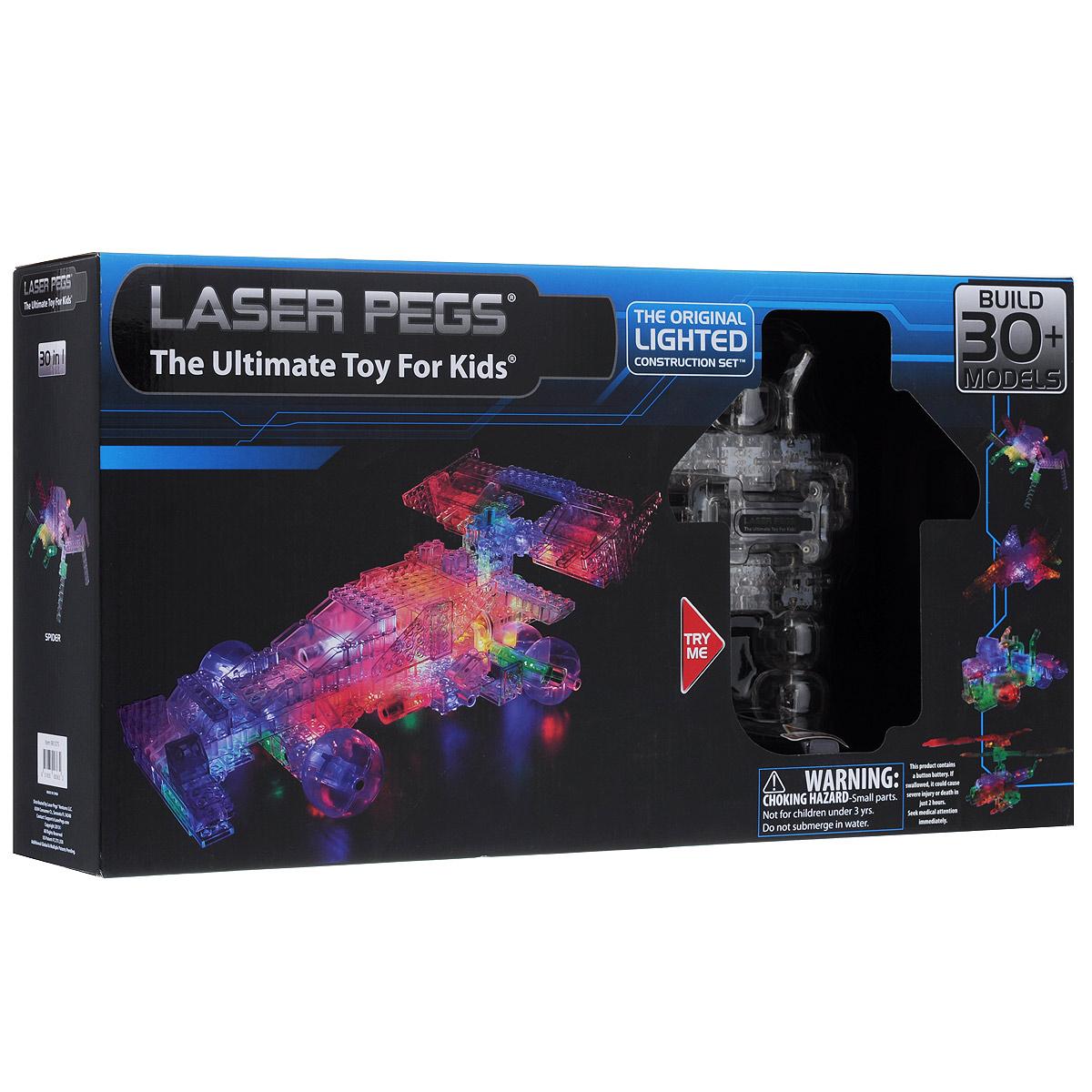 Laser Pegs Конструктор Болид 30 в 1 конструкторы laser pegs световая панель 3d