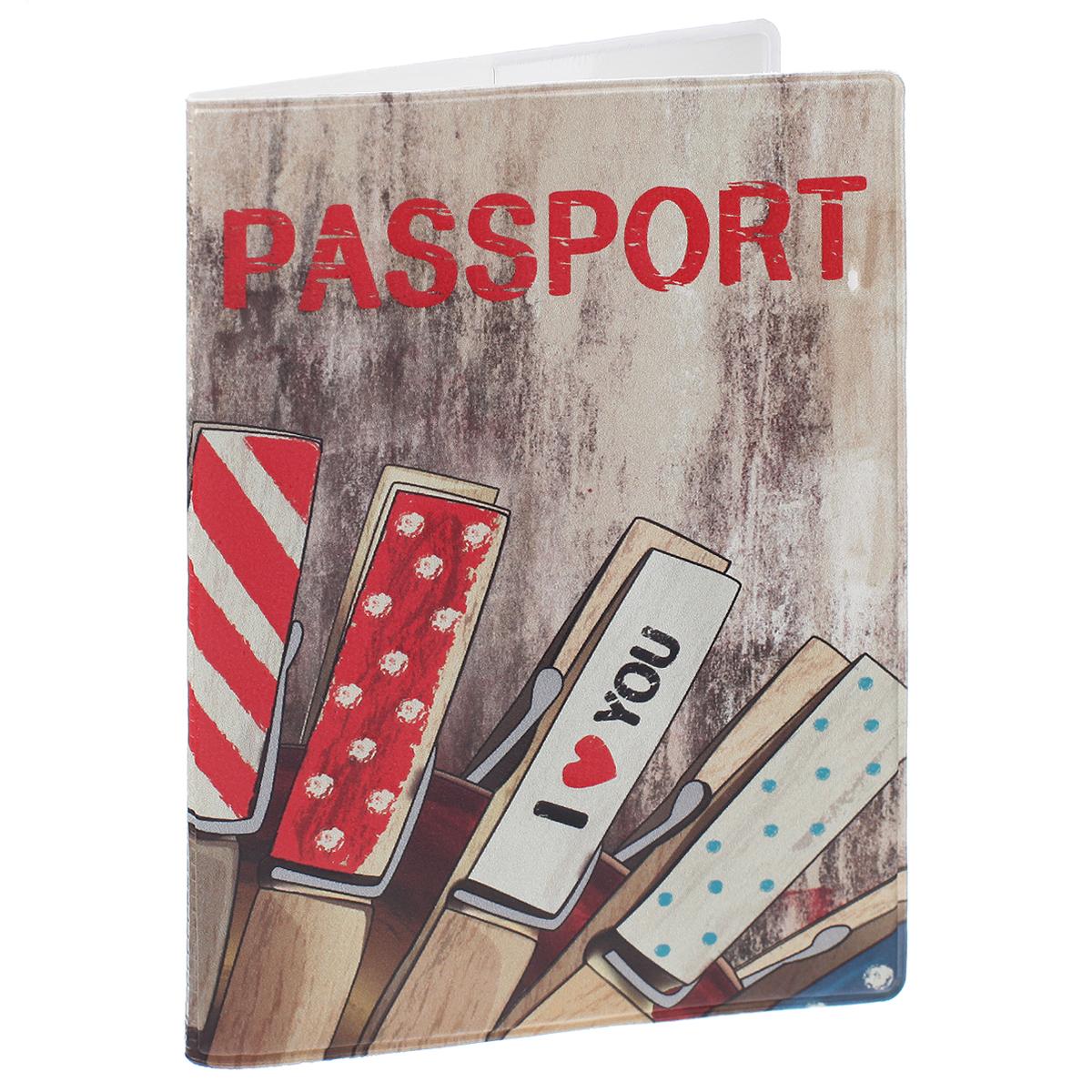 Обложка для паспорта I love you, цвет: коричневый, красный. 35671510Обложка для паспорта I love you не только поможет сохранить внешний вид ваших документов и защитить их от повреждений, но и станет стильным аксессуаром, идеально подходящим вашему образу. Обложка выполнена из поливинилхлорида и оформлена оригинальным изображением с надписью I love you. Внутри имеет два вертикальных кармана из прозрачного пластика. Такая обложка поможет вам подчеркнуть свою индивидуальность и неповторимость!