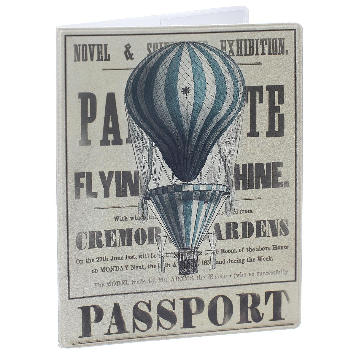 Обложка для паспорта Воздушный шар, цвет: серый. 35690OK277Обложка для паспорта Воздушный шар не только поможет сохранить внешний вид ваших документов и защитить их от повреждений, но и станет стильным аксессуаром, идеально подходящим вашему образу. Обложка выполнена из поливинилхлорида и оформлена оригинальным изображением воздушного шара. Внутри имеет два вертикальных кармана из прозрачного пластика. Такая обложка поможет вам подчеркнуть свою индивидуальность и неповторимость!