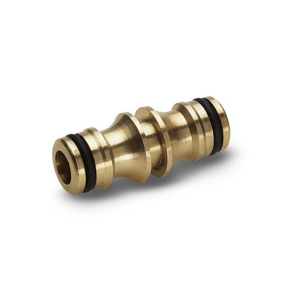 Соединитель двусторонний Karcher 2.645-100.0106-026Двухсторонний соединитель Karcher 2.645-100 предназначен для соединения двух шлангов при помощи коннекторов Karcher, позволяя таким образом увеличить площадь поливаемой почвы. Переходник выполнен из высокопрочной латуни, что гарантирует длительный срок эксплуатации. Имеет стандартную систему стыкового соединения.