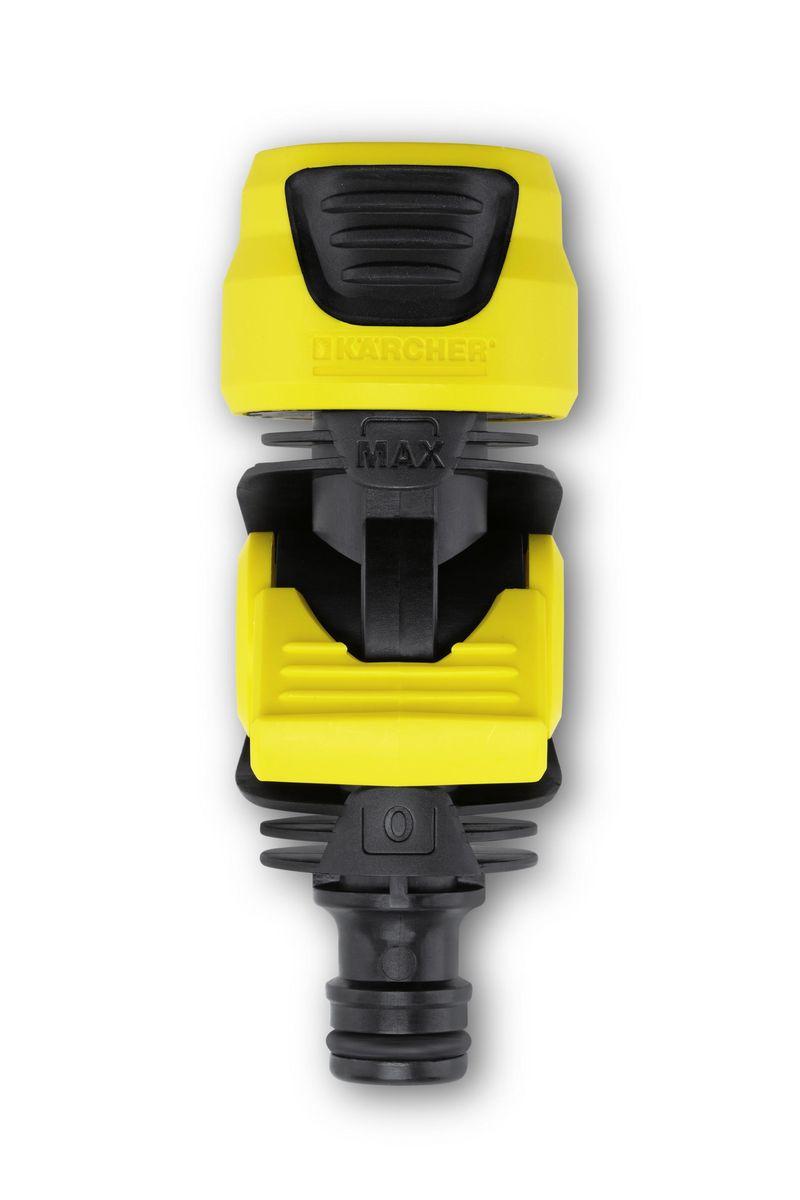 Коннектор с регулирующим клапаном Karcher 2.645-198.0106-026Коннектор Karcher с регулятором потока воды. Применяется для подключения дождевателей без встроенного регулятора напора воды. Используется между двумя шлангами или между шлангом и разбрызгивающей головкой.