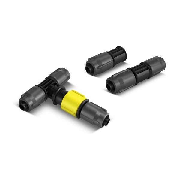 Комплект соединительных элементов Karcher 2.645-240.0106-026Комплект Karcher предназначен для микрокапельного полива. Включает в себя 4 тройника с регулятором расхода воды, 4 соединителя и 5 заглушек. Все элементы набора выполнены из пластика.