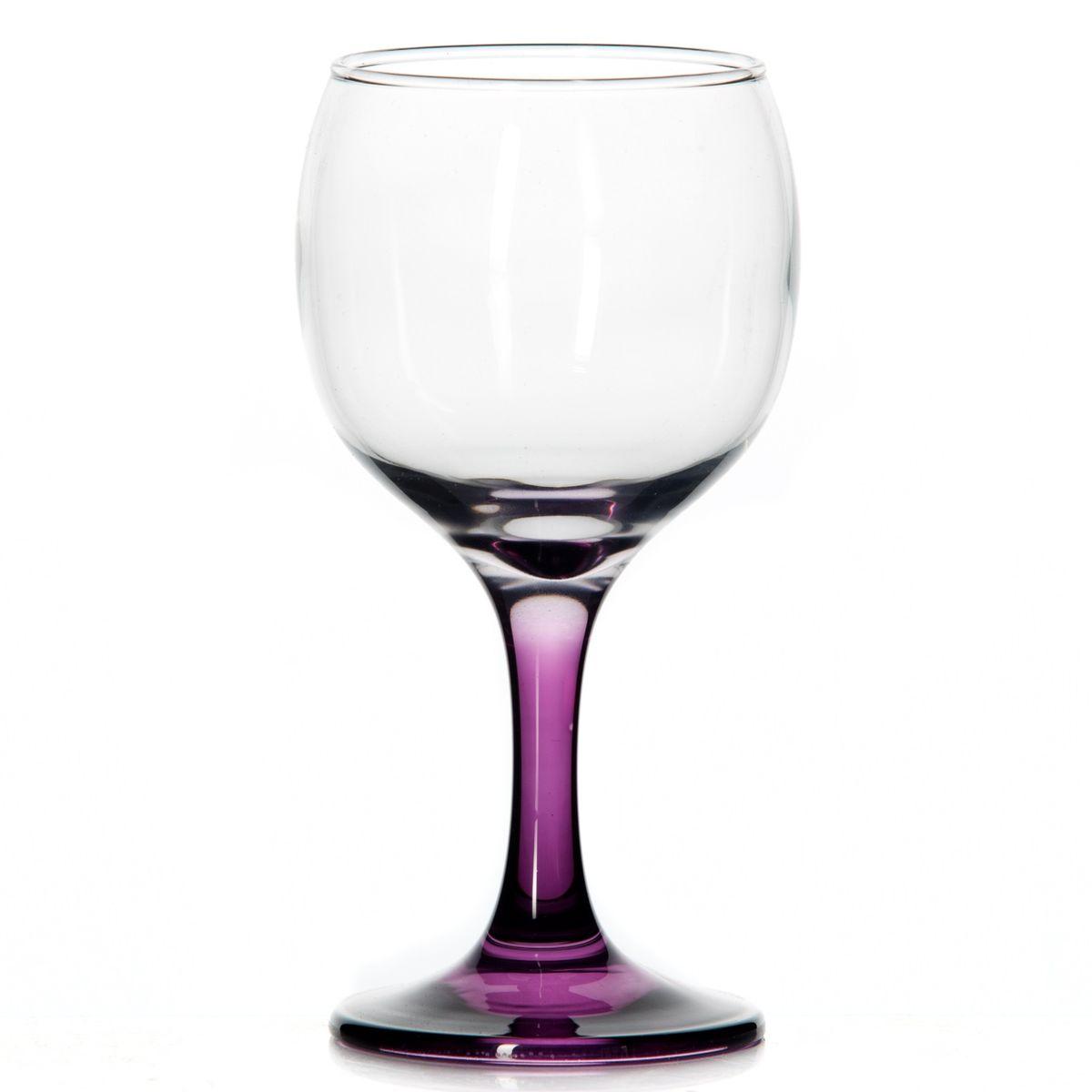 Набор бокалов Pasabahce Glass for You, цвет: сиреневый, 220 мл, 3 штVT-1520(SR)Набор Pasabahce Glass for You состоит из трех бокалов, выполненных из натрий-кальций-силикатного стекла. Изделия оснащены элегантными ножками. Бокалы сочетают в себе изысканный дизайн и функциональность. Благодаря такому набору пить напитки будет еще вкуснее.Набор бокалов Pasabahce Glass for You прекрасно оформит праздничный стол и создаст приятную атмосферу за романтическим ужином. Такой набор также станет хорошим подарком к любому случаю. Диаметр бокала (по верхнему краю): 6 см. Высота бокала: 15 см.