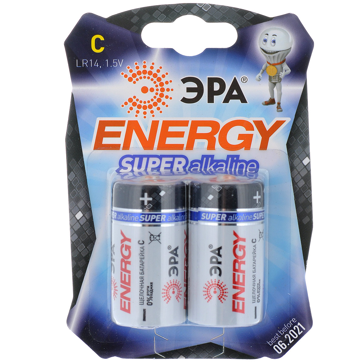 Батарейка алкалиновая ЭРА Energy, тип C (LR14), 1,5В, 2 шт5055398600993Щелочные (алкалиновые) батарейки ЭРА Energy оптимально подходят для повседневного питания множества современных бытовых приборов: электронных игрушек, фонарей, беспроводной компьютерной периферии и многого другого. Батарейки созданы для устройств со средним и высоким потреблением энергии. Работают в 10 раз дольше, чем обычные солевые элементы питания. В комплекте - 2 батарейки.Размер батарейки: 2,5 см х 4,6 см.