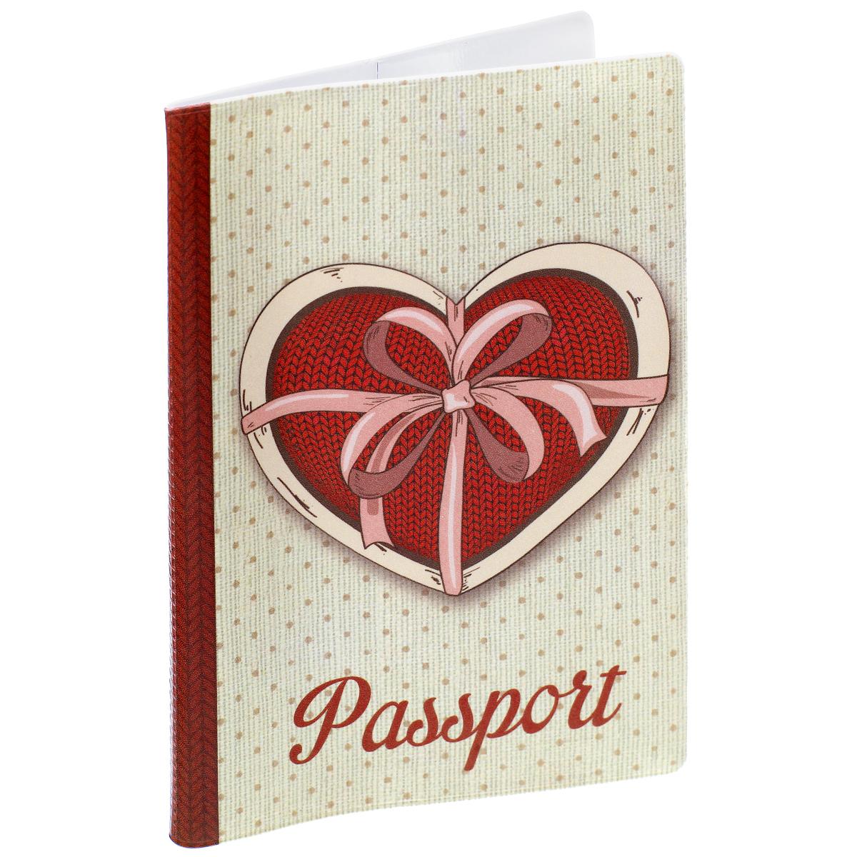 Обложка для паспорта Любовь, цвет: серый, красный. 37725595Обложка для паспорта Любовь не только поможет сохранить внешний вид ваших документов и защитить их от повреждений, но и станет стильным аксессуаром, идеально подходящим вашему образу. Обложка выполнена из поливинилхлорида и оформлена оригинальным изображением сердца. Внутри имеет два вертикальных кармана из прозрачного пластика. Такая обложка поможет вам подчеркнуть свою индивидуальность и неповторимость!