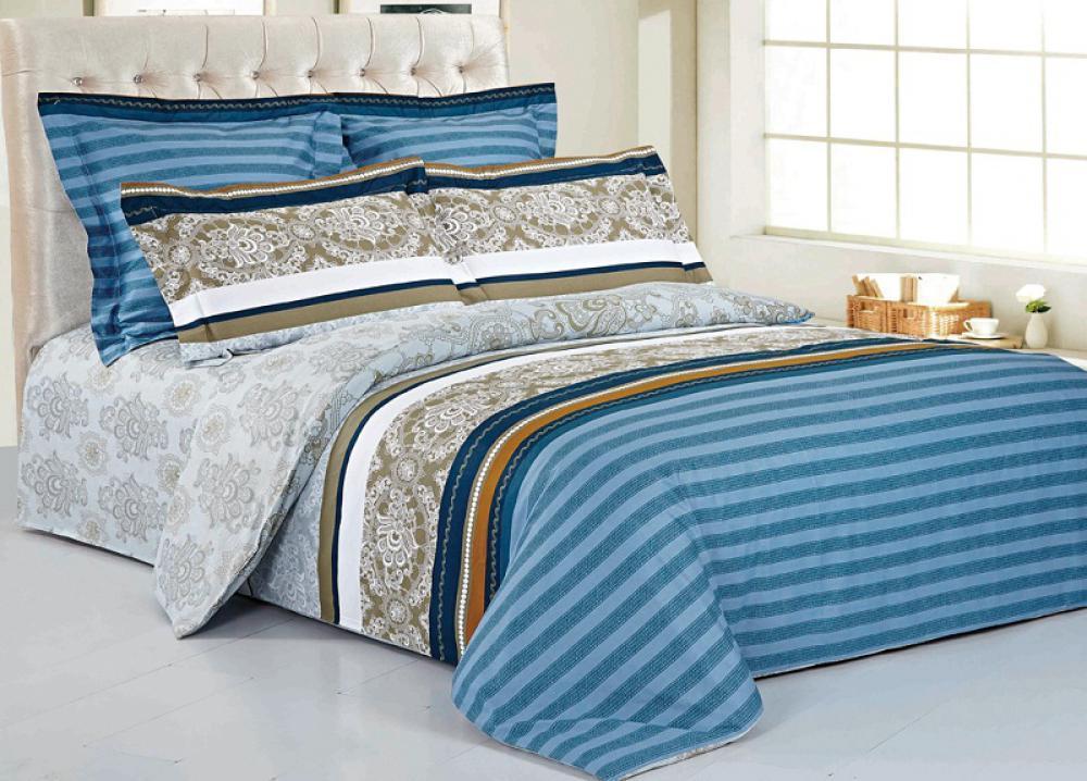 Комплект белья 9815 (2-спальный КПБ, сатин, наволочки 70x70)CA-350509815 Комплект постельного белья 4 предмета. Хлопок 100%. Сатин. Пододеяльник 180х205 - 1 шт, простыня 210х230 - 1 шт, наволочка 70x70 - 2 шт.