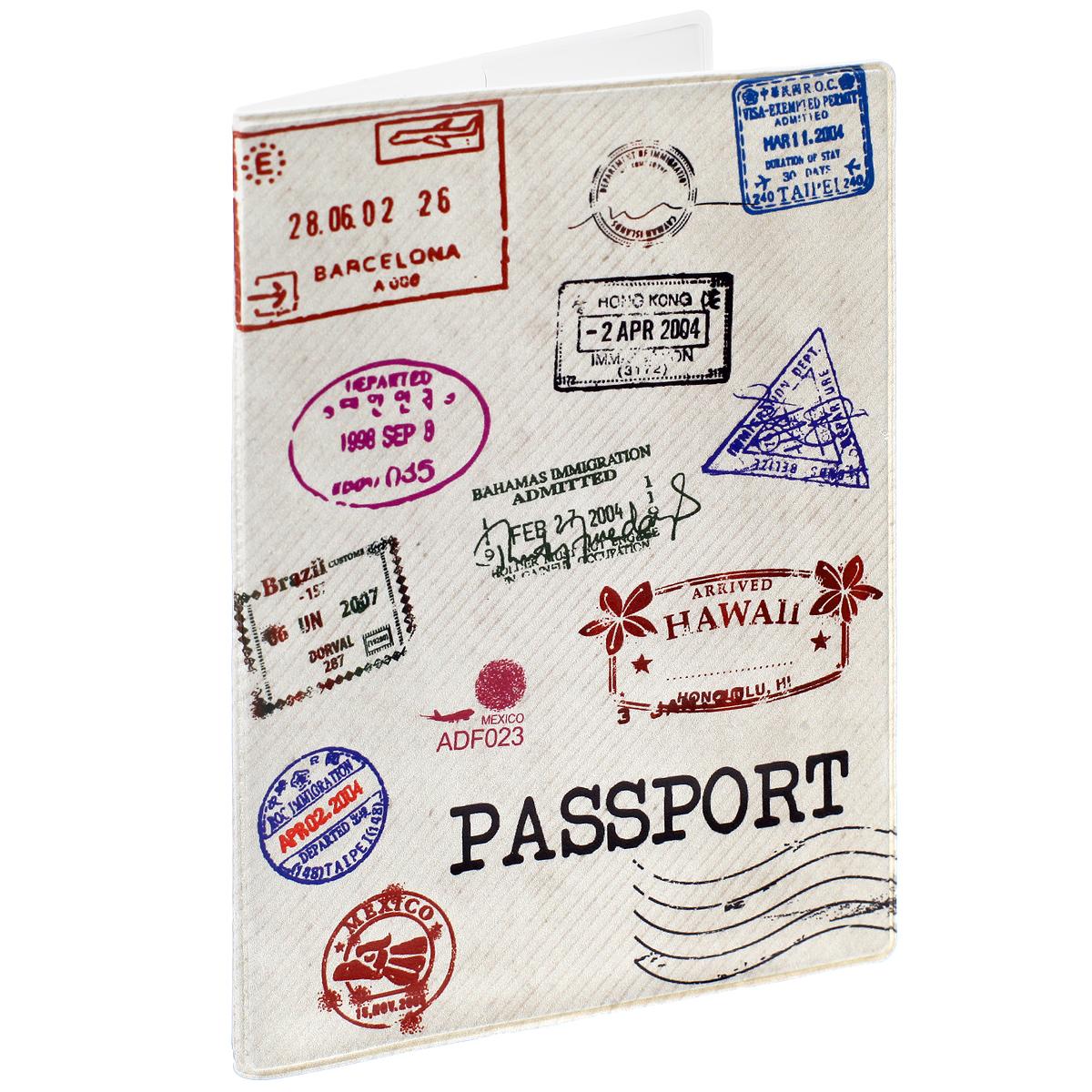 Обложка для паспорта Почтовые штампы, цвет: бежевый. 32398730Обложка для паспорта Почтовые штампы не только поможет сохранить внешний вид ваших документов и защитить их от повреждений, но и станет стильным аксессуаром, идеально подходящим вашему образу. Обложка выполнена из поливинилхлорида и оформлена оригинальным изображением почтовых штампов. Внутри имеет два вертикальных кармана из прозрачного пластика. Такая обложка поможет вам подчеркнуть свою индивидуальность и неповторимость!