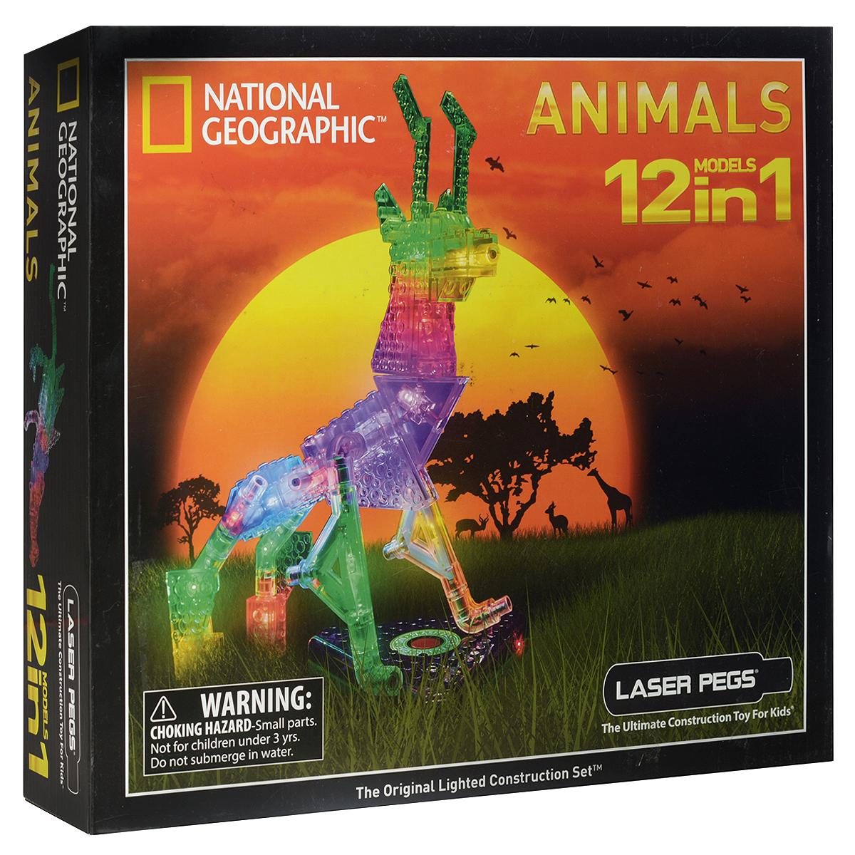 Laser Pegs Конструктор Животные 12 в 1  laser pegs конструктор динозавры 24 в 1