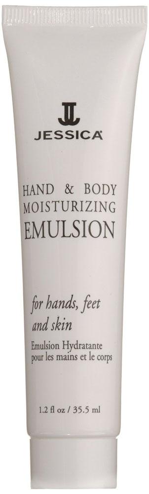 Jessica Увлажняюшая эмульсия для рук и тела с пантенолом Hand&Body Moisturizing Emulsion 45 млGRA0040Содержит интенсивные восстанавливающие компоненты, поддерживающие гидро-липидный баланс кожи, делая ее шелковистой. Предупреждает преждевременное старение кожи и потерю эластичности. Обладает отбеливающим эффектом.
