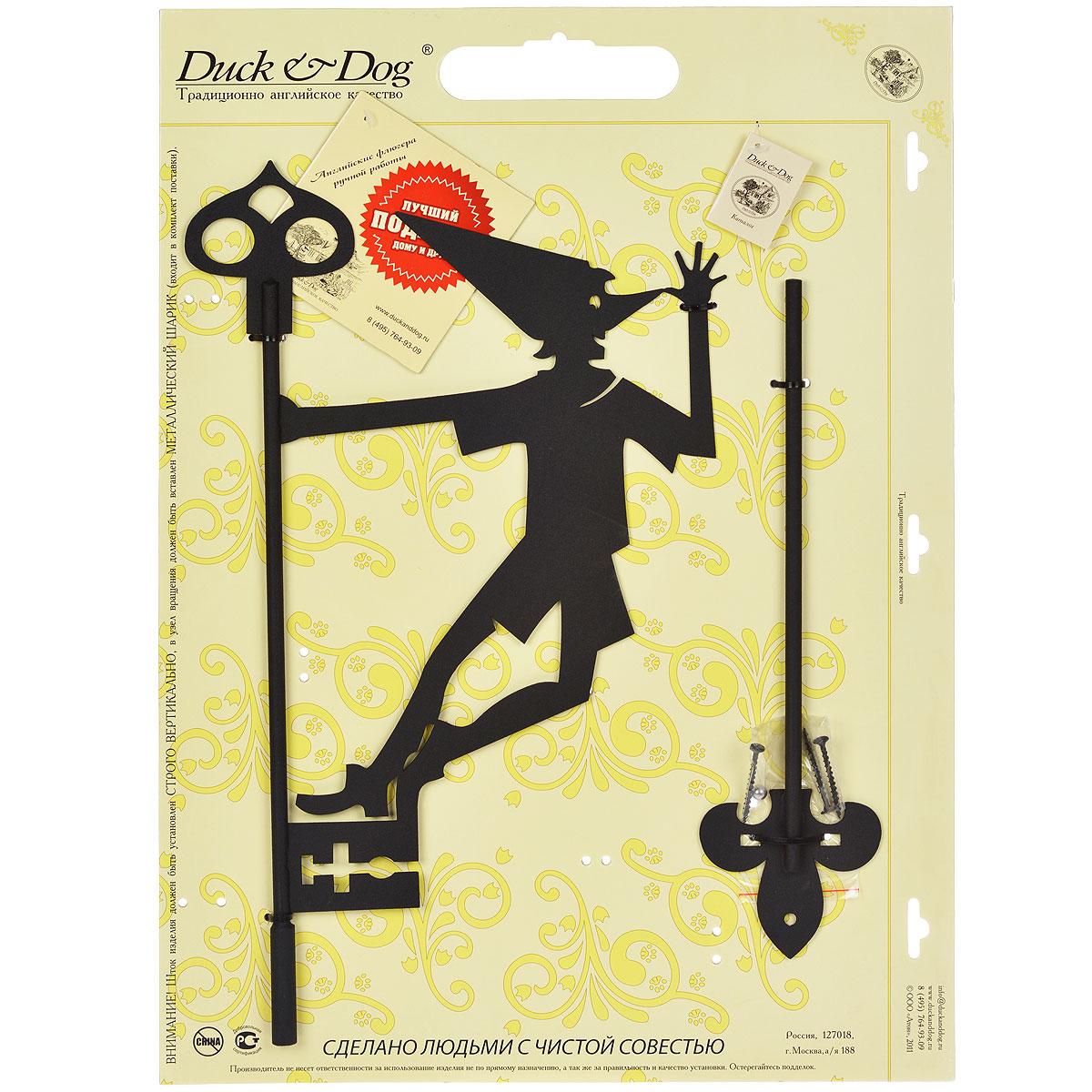 Указатель ветра Duck & Dog Буратино, 27 х 73 смL-0213Легкий и сильный указатель ветра ветра Duck & Dog Буратино станет прекрасным дополнением к экстерьеру вашего дома. Классический английский указатель ветра ручной работы - это отличное приобретение для вашего дома и хороший подарок близким! В комплект входит система крепления и металлический шарик для вращения указателя. Изделие изготовлено из сплавов прочных металлов и покрыто специальной порошковой краской, устойчивой ко всем погодным условиям, что гарантирует долговечность срока службы.Размер фигурной части: 27 см х 45 см.