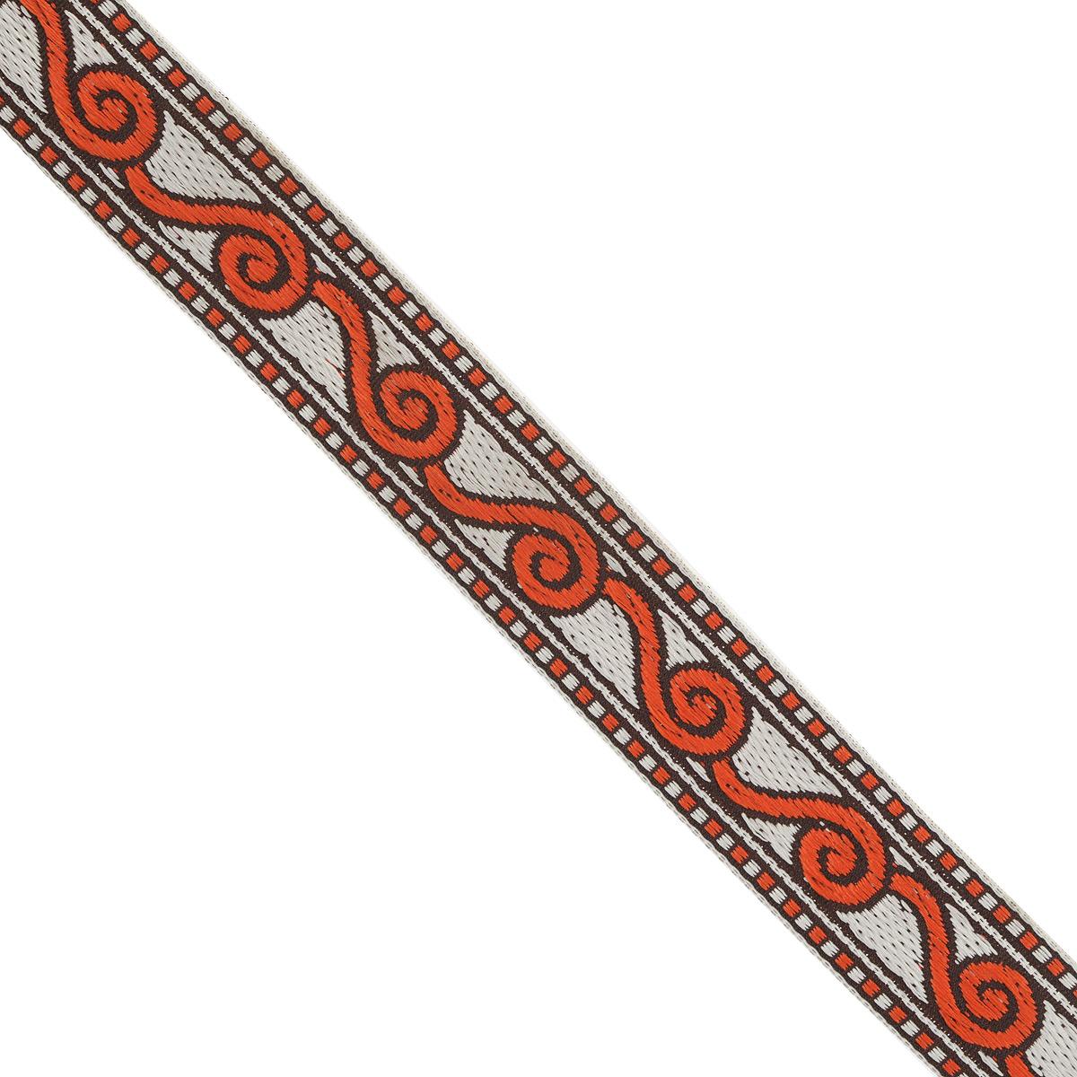 Тесьма декоративная Астра, цвет: красный (4), ширина 2 см, длина 16,4 м. 7703271C0044702Декоративная тесьма Астра выполнена из текстиля и оформлена оригинальным орнаментом. Такая тесьма идеально подойдет для оформления различных творческих работ таких, как скрапбукинг, аппликация, декор коробок и открыток и многое другое. Тесьма наивысшего качества и практична в использовании. Она станет незаменимым элементом в создании рукотворного шедевра. Ширина: 2 см.Длина: 16,4 м.