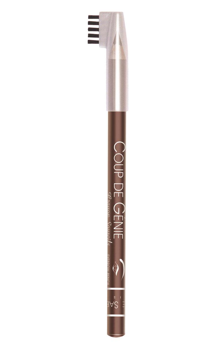 Vivienne Sabo Карандаш для бровей Coup de Genie, тон №001, темно-коричневый, 0,9 гD215229001Карандаш для бровей Vivienne Sabo Coup de Genie поможет вам легко создать брови идеальной формы, как на картинке. Карандаш универсального оттенка корректируют форму и цвет бровей, маленькая расческа используется до и после нанесения карандаша. Безупречный вид бровей - гениальный ход в создании макияжа.Товар сертифицирован.