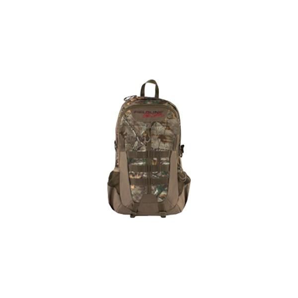 Рюкзак Fieldline Badger Backpack67743Камуфлированный рюкзак для охоты Fieldline Badger Backpack, выполненный из прочной, малошуршащей ткани.Особенности рюкзака:Центральный отсек на молнии с возможностью открытия на 3/4 длины.Профилированная спинка для комфортного ношения.2 боковых кармана для питьевой бутылки.Фронтальный карман с 3-секционным органайзером.Бесшумные пулеры на молнии.Y образные плечевые ремни с центральной регулировочной поперечной утяжкой.Боковые стороны рюкзака имеют стропы для крепления дополнительного снаряжения.